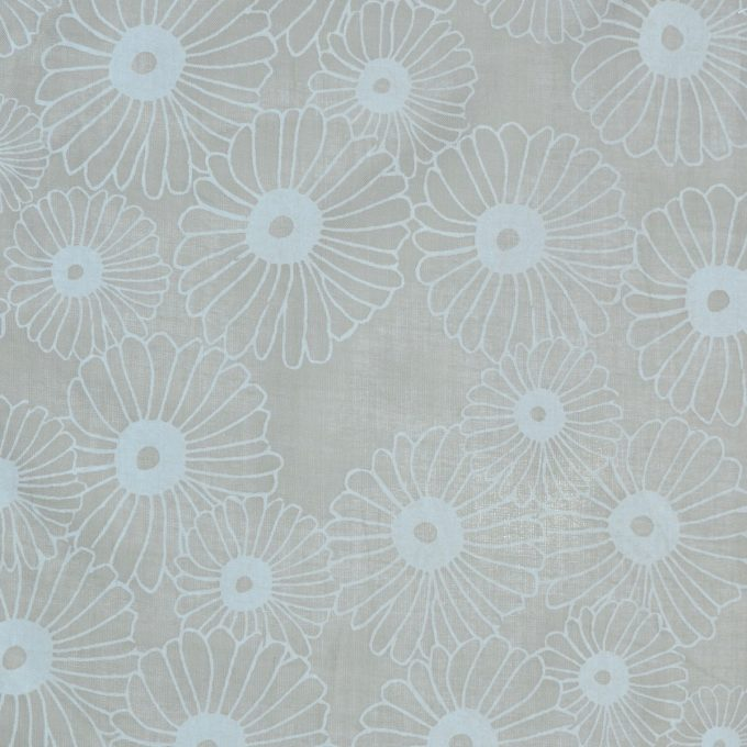 Tallentire House Fabrics Voile Korean Flower Sea Green Chalk