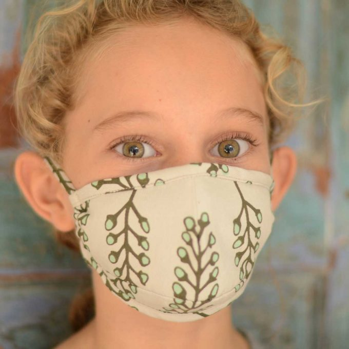 Tallentire House Face Mask Stem Vetiver Front