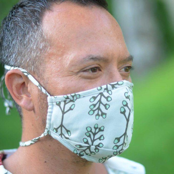 Tallentire House Face Mask Stem Vetiver Side Simon