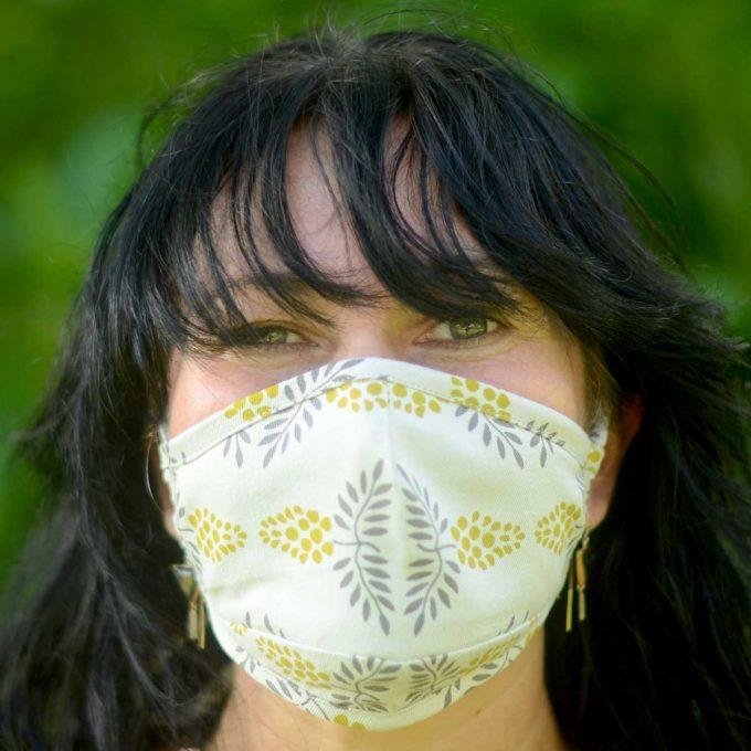 Tallentire House Face Mask Vine Citronella Front