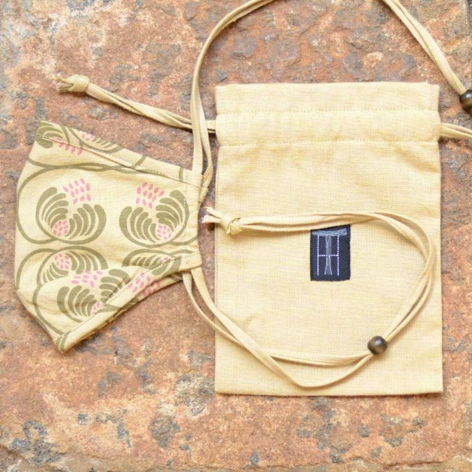 Tallentire House Face Mask Wisteria Dried Moss Elmwood Bag