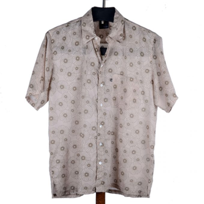 Tallentire House Man Shirt Korean Flower Dusty Pink Shitake