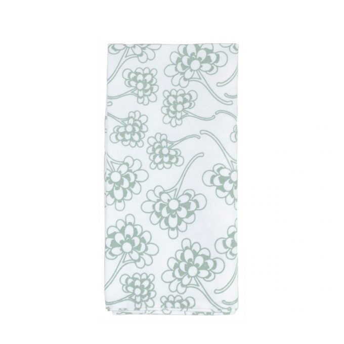 Tallentire House Napkin Chinese Flower Surfspray On White
