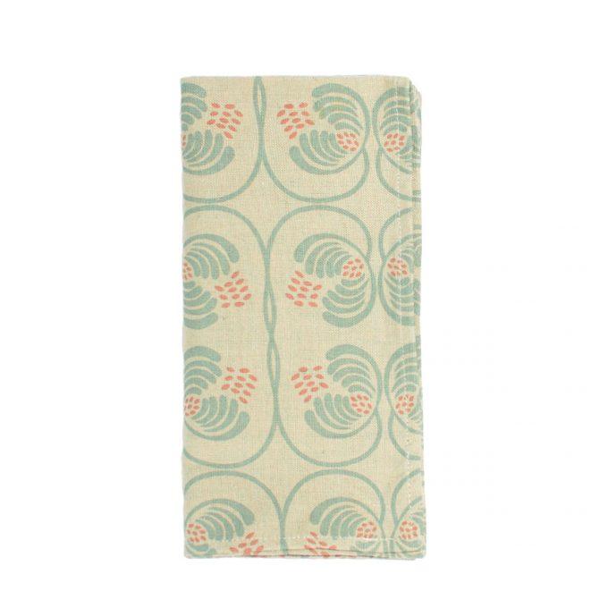 Tallentire House Napkin Cotton Flax Wisteria Blue Surf Slate
