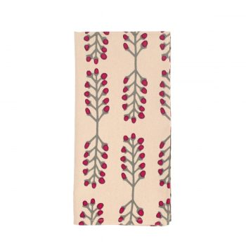 Tallentire House Napkin Stem Fuchsia Red