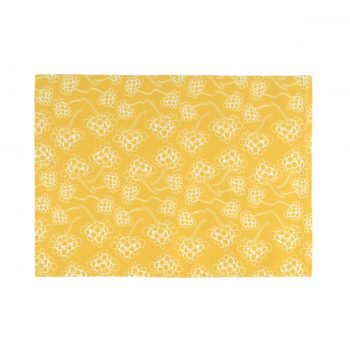 Tallentire House Placemat Chinese Flower Celery Inverse