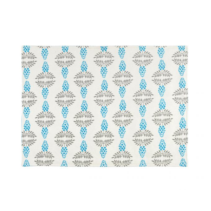 Tallentire House Placemat Vine Blue