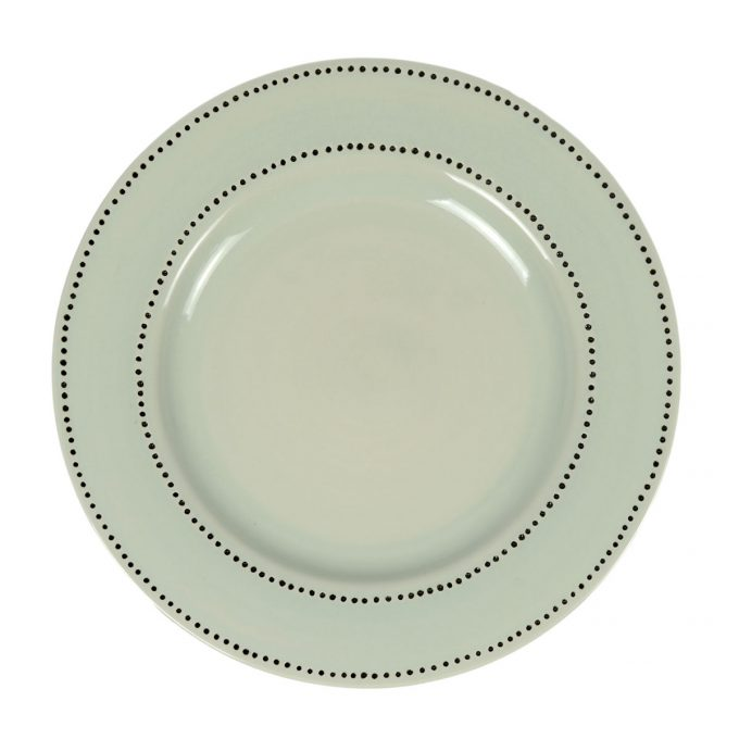 Tallentire House Plate Dots Duck Egg Top View