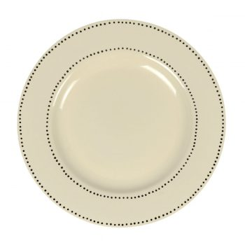 Tallentire House Plate Dots White Top View