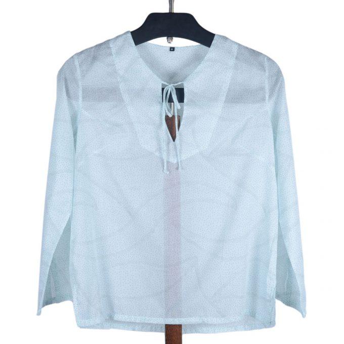 Tallentire House Pyjama Top Dots Blue Blush Metal