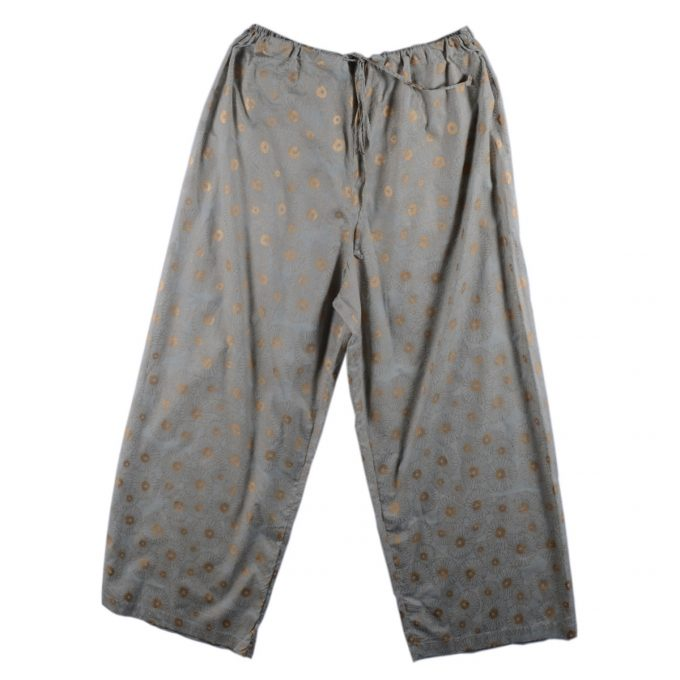 Tallentire House Pyjama Trousers Korean Flower Sea Green Gold