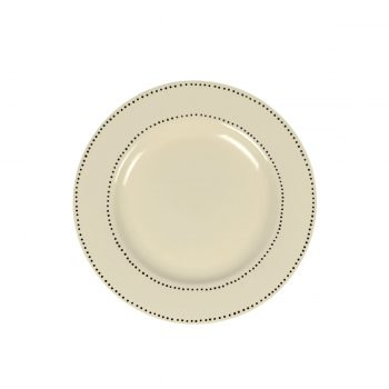 Tallentire House Side Plate Dots White Top View