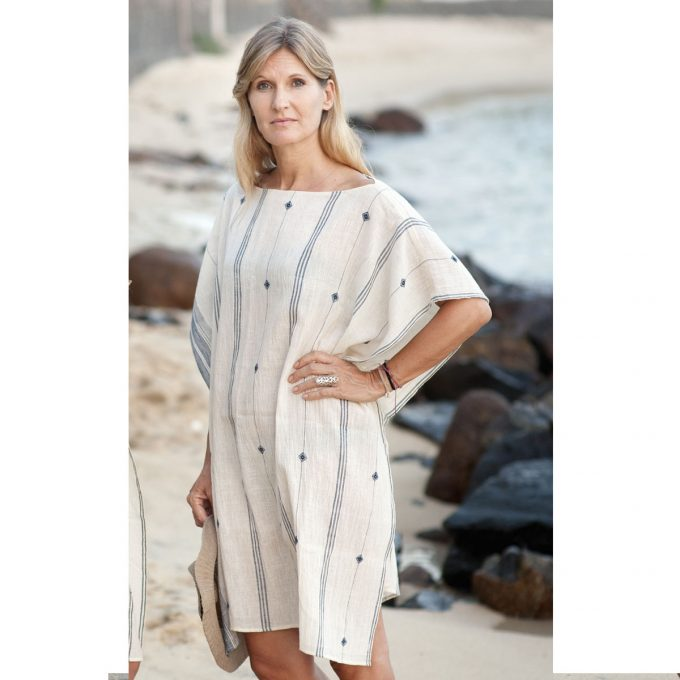 Tallentire House Smock Top Blue 2