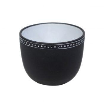 Tallentire House Tea Cup Horizontal Lines Black