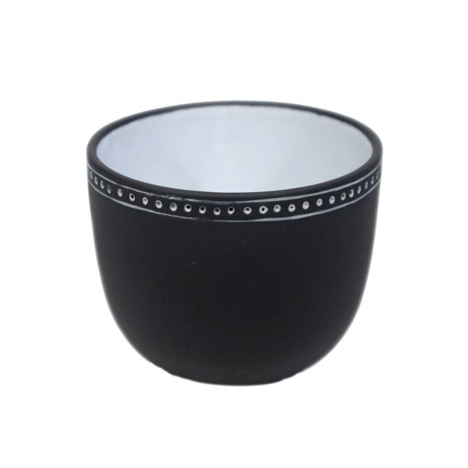 Tallentire House Tea Cup Horizontal Lines Black