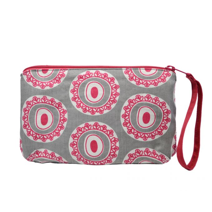Tallentire House Travel Purse Byzantine Circle Wild Dove Bright Rose