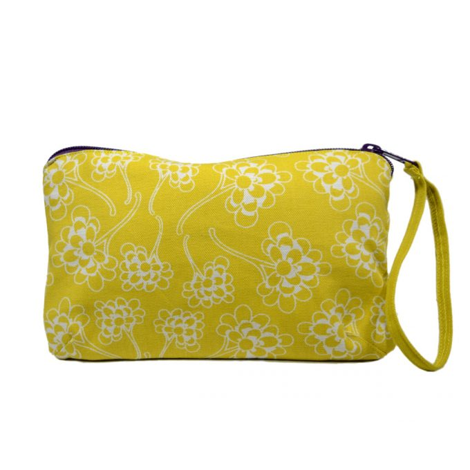 Tallentire House Travel Purse Chinese Flower Celery Inverse