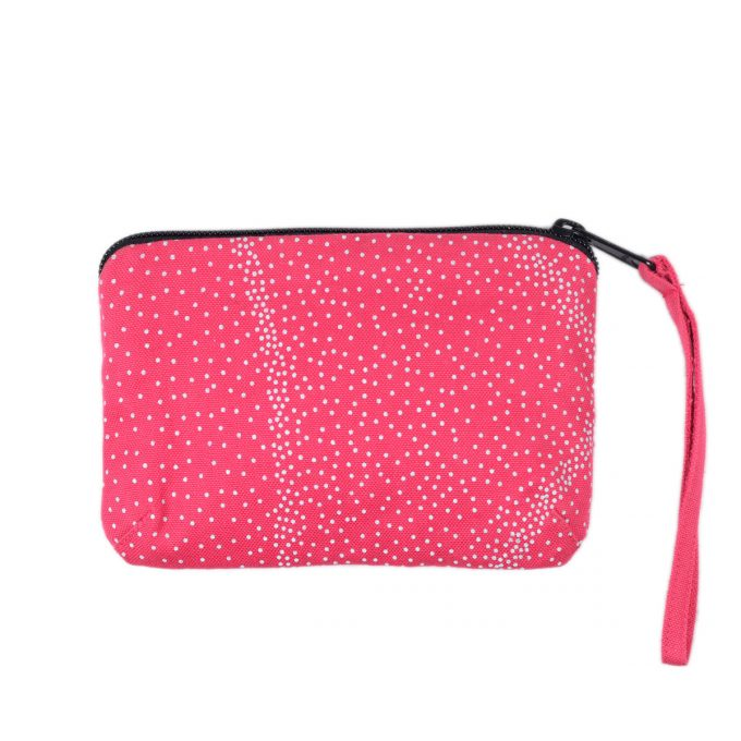 Tallentire House Travel Purse Dots Bright Rose