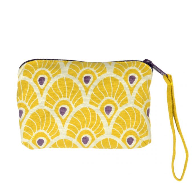 Tallentire House Travel Purse Feather Oil Yellow
