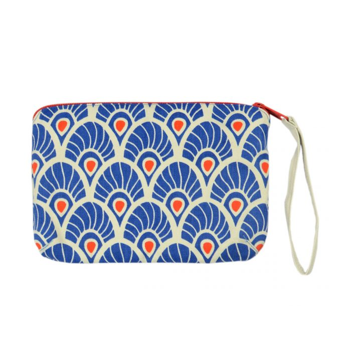 Tallentire House Travel Purse Large Feather Surf the Web Tiger Lilly