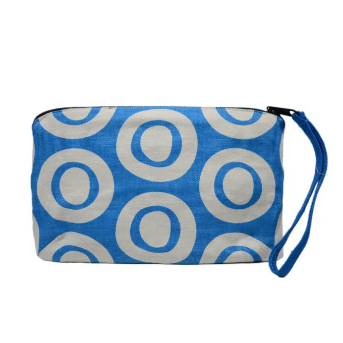 Tallentire House Travel Purse Plain Circle Blue