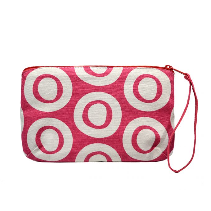 Tallentire House Travel Purse Plain Circle Bright Rose