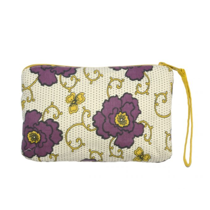 Tallentire House Travel Purse Russian Flower Grape Wine Oil Yellow