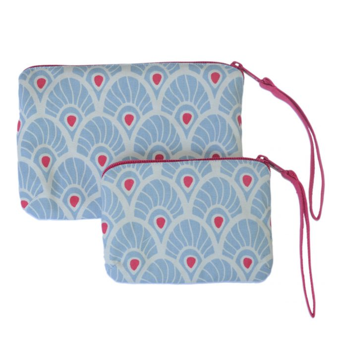 Tallentire House Travel Purse SL Feather Forget Me Knot