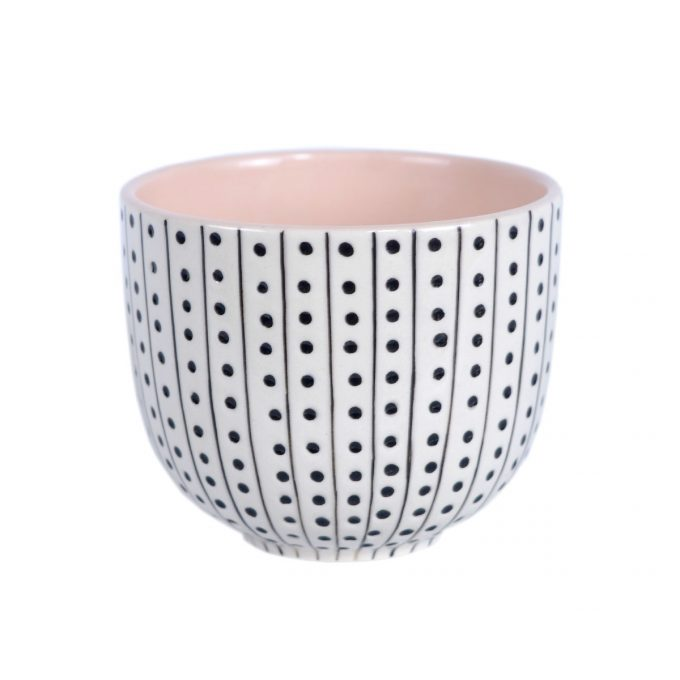TallentireHouse TeaCup Urchin White Pink
