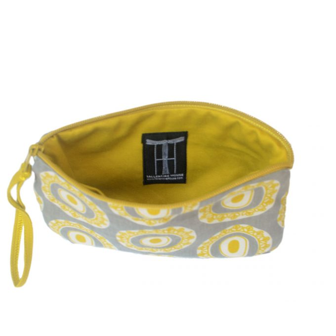 Travel Purse Byzantine Circle Inside Logo on Oil Yellow