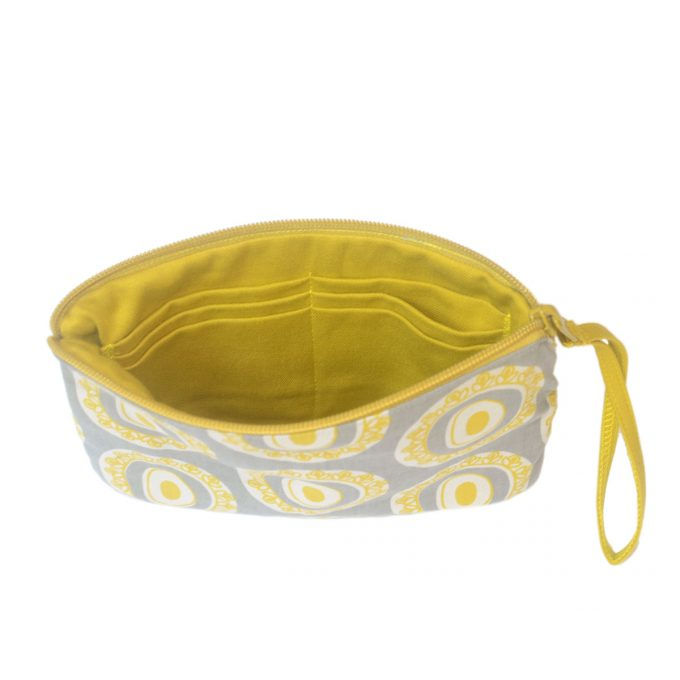 Travel Purse Byzantine Circle Inside Oil Yellow