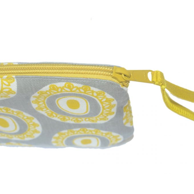 Travel Purse Byzantine Circle Zip Oil Yellow