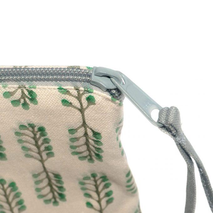 Travel Purse Small Stem Juniper Zip Grey