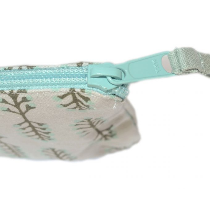Travel Purse Small Stem Zip Aqua